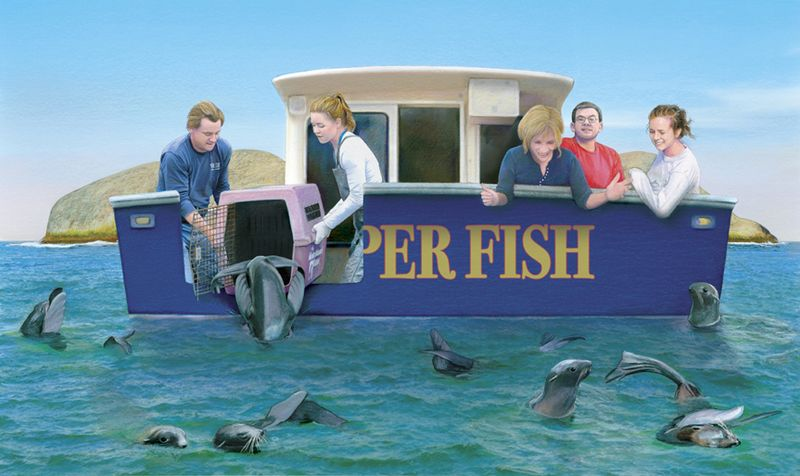 Shennen in Astro The Steller Sea lion