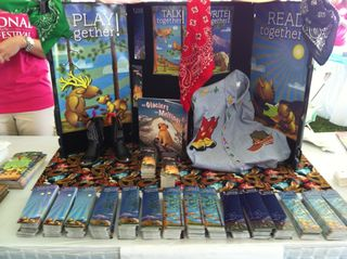 Montana's booth at National Book Festival Washington DC